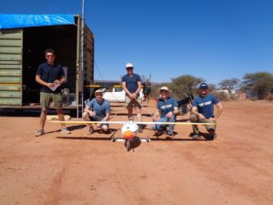CATUAV team in Namibia